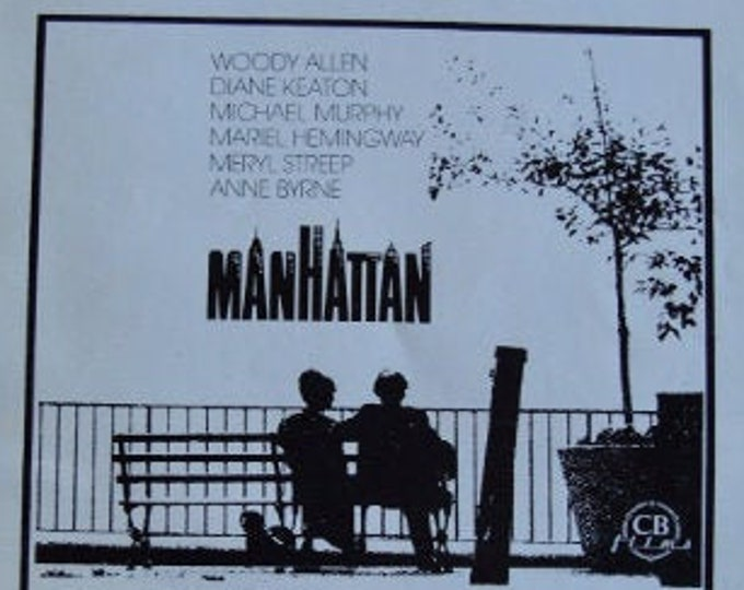 Woody Allen's Manhattan (1979). Original advertising guide to the premiere in Spain.