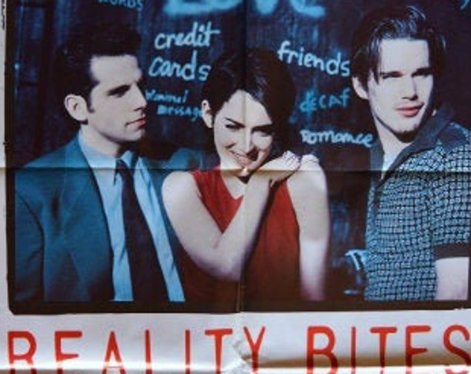 Reality Bites ( 1994). Cartel de cine original.