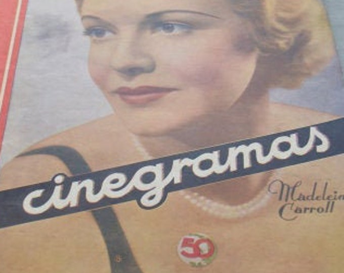 CINEGRAMAS Nº 41, June 1935. Spanish Vintage Magazine.