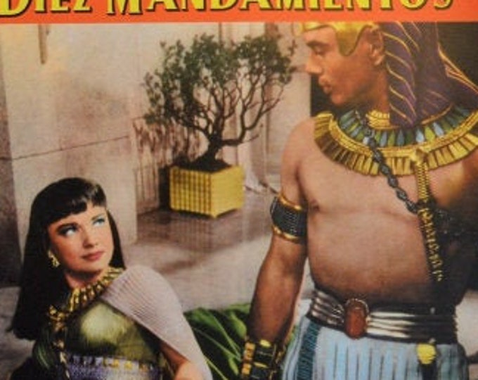 The Ten Commandments ( 1956 ). Set de 6 lobbycards originales españoles.