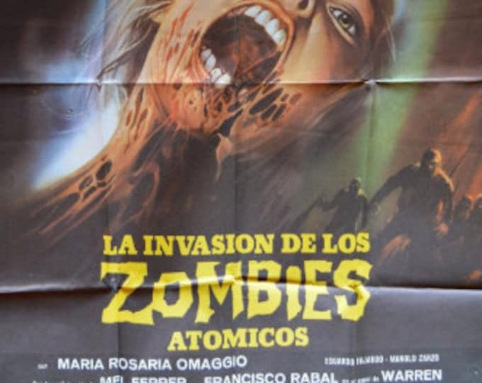 The invasion of the Atomic Zombies (1980). Original cinema poster of the premiere in Spain.