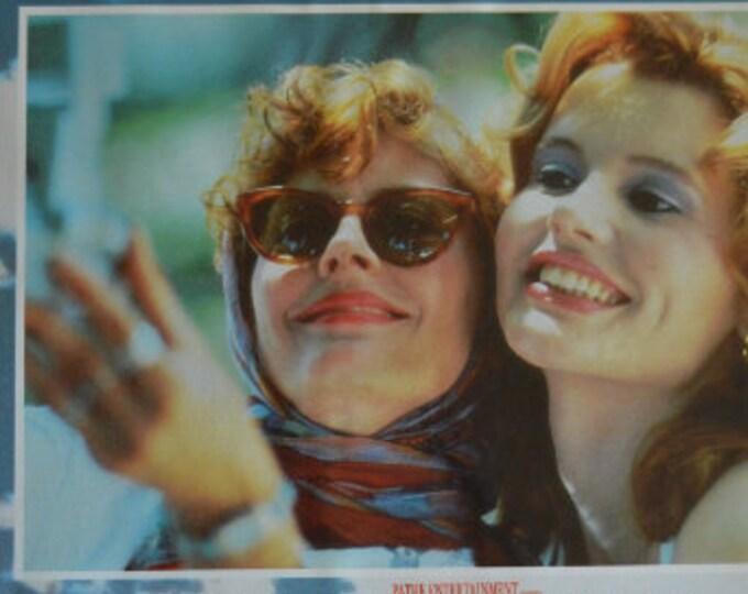 Thelma y Louise (1991) con Susan Sarandon y Geena Davis. Lobbycard original del estreno en España
