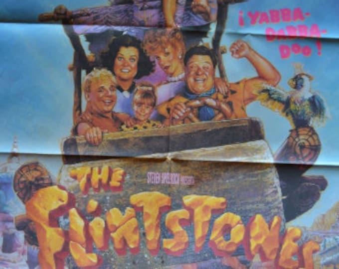 The Flintstones (1994). Original cinema poster of the premiere in Spain.