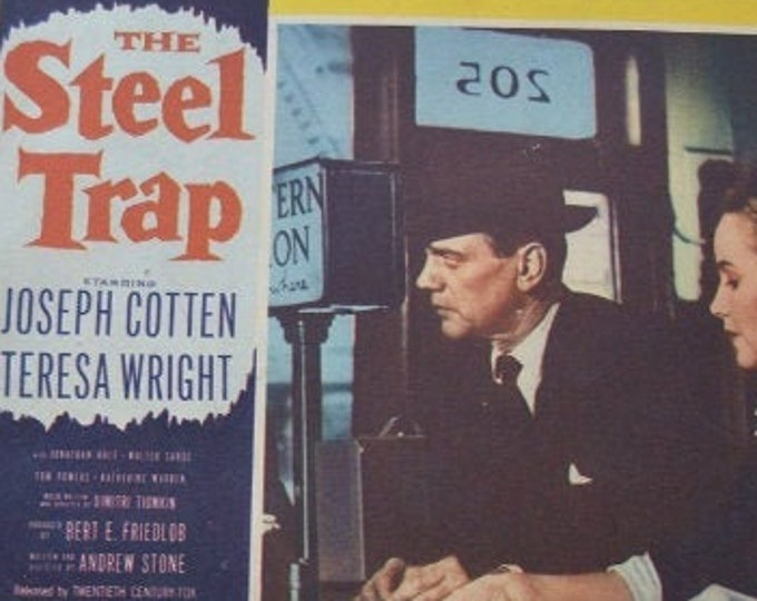 The Steel Trap (1952). Original American Lobby Card