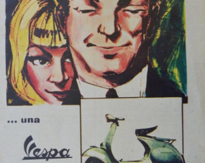 Vespa, press advertising (vintage advertisement 1960's)