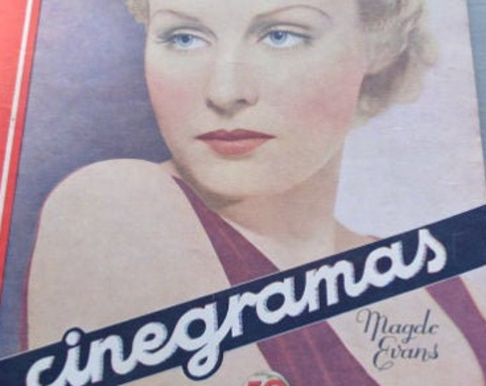 CINEGRAMAS Nº 67, December 1935. Spanish Vintage Magazine