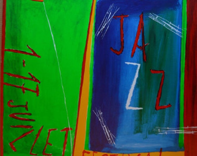 Montreux Jazz Festival Poster,(1988) diseñado por Nicola di Maria