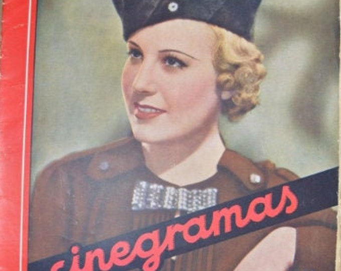 CINEGRAMAS Nº 38, June 1935. Spanish Vintage Cinema Magazine.