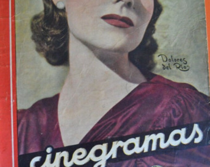 CINEGRAMAS Nº 23, february 1935. Spanish Vintage Magazine.