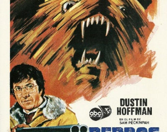 Straw Dogs (1971) with Dustin Hoffman. Original advertising guide