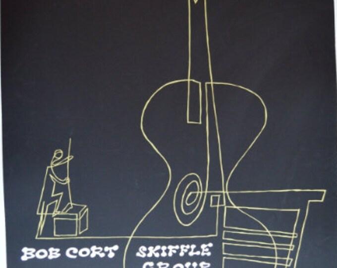 Bob Cort Skiffle Group. Serigrafía. Music Poster