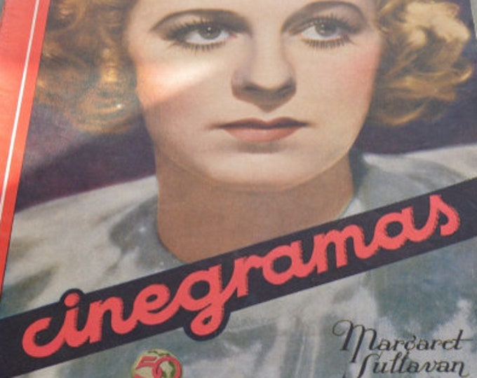 CINEGRAMAS Nº 49, August 1935. Spanish Vintage Movie Magazine.
