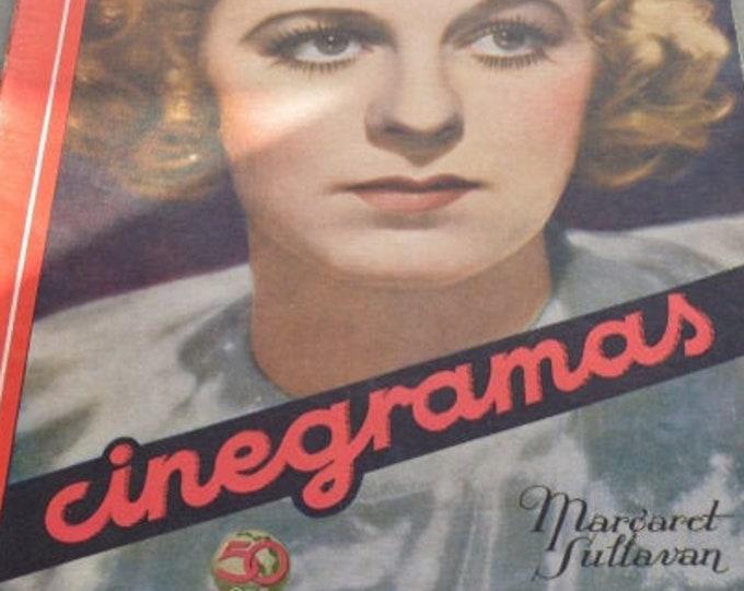 CINEGRAMAS Nº 49, August 1935. Spanish Vintage Movie Magazine.