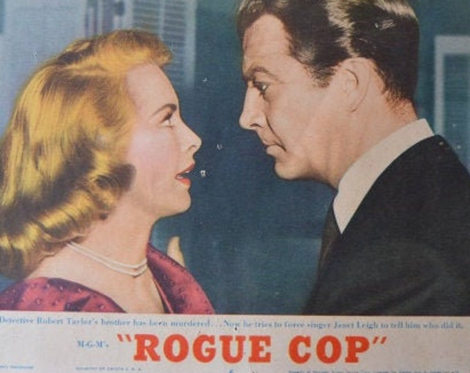 Rogue Cop (1954) with Robert Taylor. Original Lobbycard from the U.S. premiere.