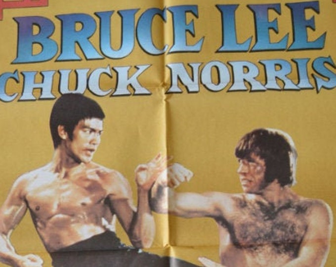 The Dragon's Fury (1972) with Bruce Lee. Original Spanish film poster.
