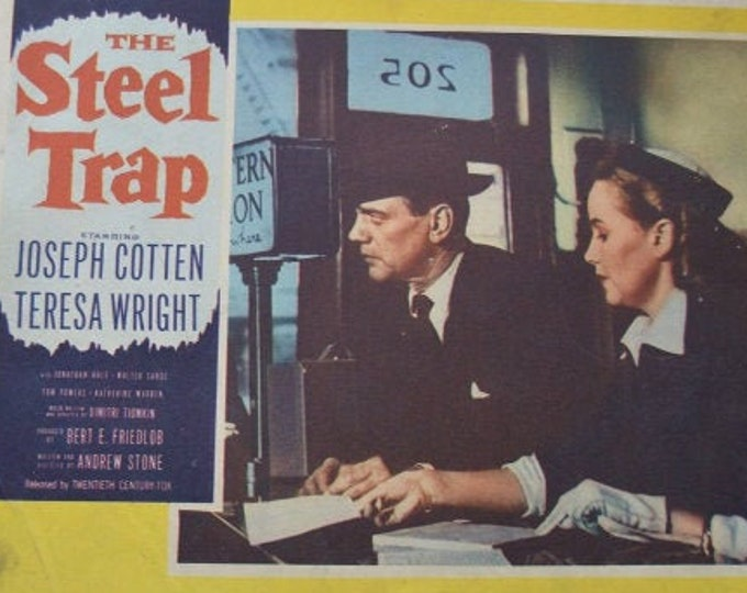 The Steel Trap ( 1952) . Lobby Card americano original