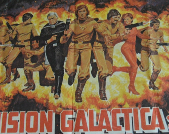 Galactic Mission, Cyclon Ataca ( 1979). Original cinema poster of the premiere in Spain.