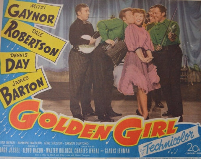 Golden Girl ( 1951). Original lobby card from the U.S. premiere.
