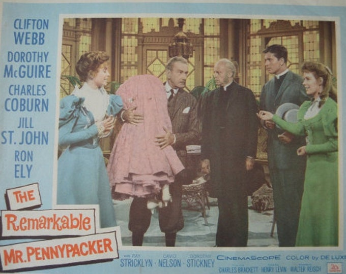 The Remarkable Mr. Pennypacker (1959) Lobby card original americano