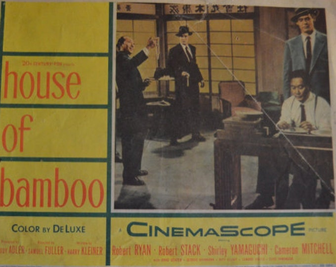 House of Bamboo (1951) by Samuel Fuller. Original American Lobby Card