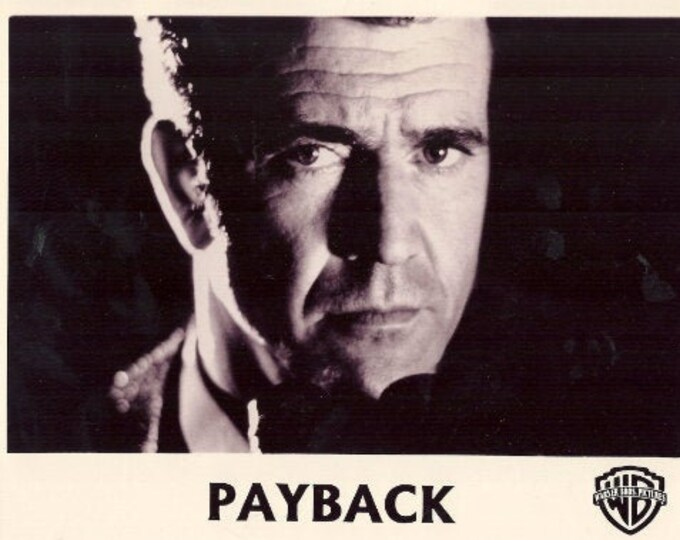 "Mel Gibson, batch of 5 B&W black and white photos, on photographic paper used for the premiere of ""Payback"" in 1999."