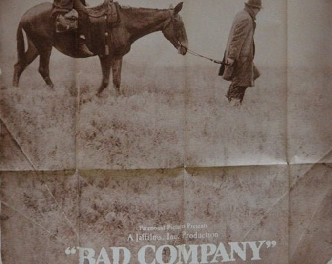 Bad Company ( 1972) con Jeff Bridges, poster original americano 3 hojas