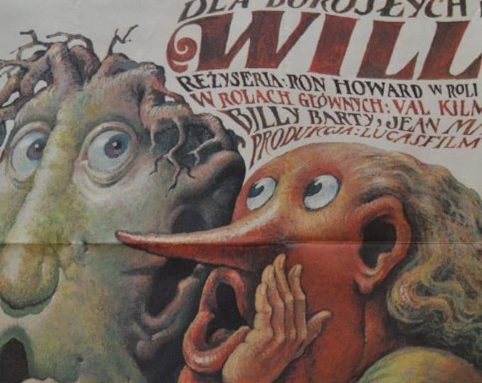 Willow (1988) Ron Howard. Original Polish Poster Designed by Wieslaw Walkuski