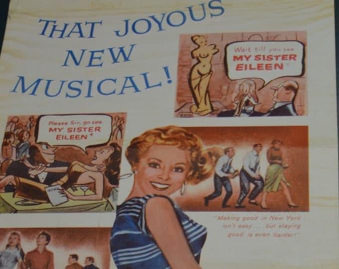 My Sister Eileen ( 1955). Cartel americano de cine original.