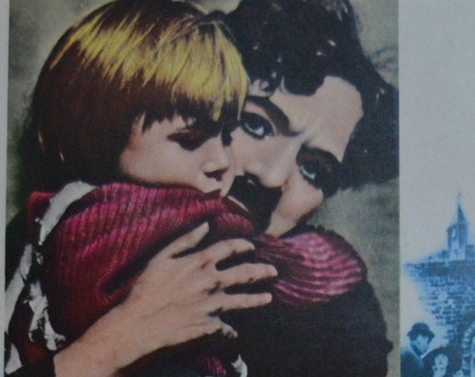 The Kid (1921) Charles Chaplin. Original advertising guide to the 1980s revival in Japan.