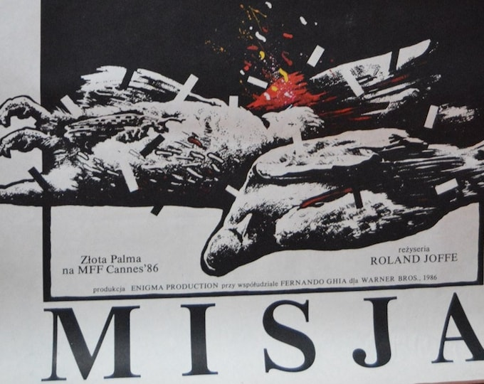 The Mission (1986) with Robert De Niro. Original Polish film poster.