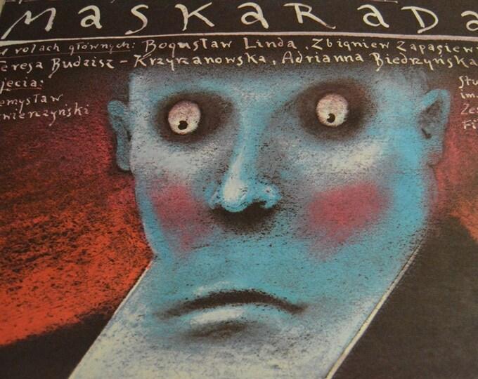 Maskarada (1987). Original Polish poster Designed by Andrzej Pagowski