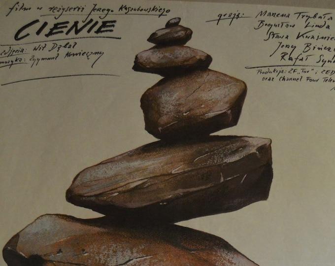 Cienie (1987) Original Polish poster. Designed by Andrzej Pagowski