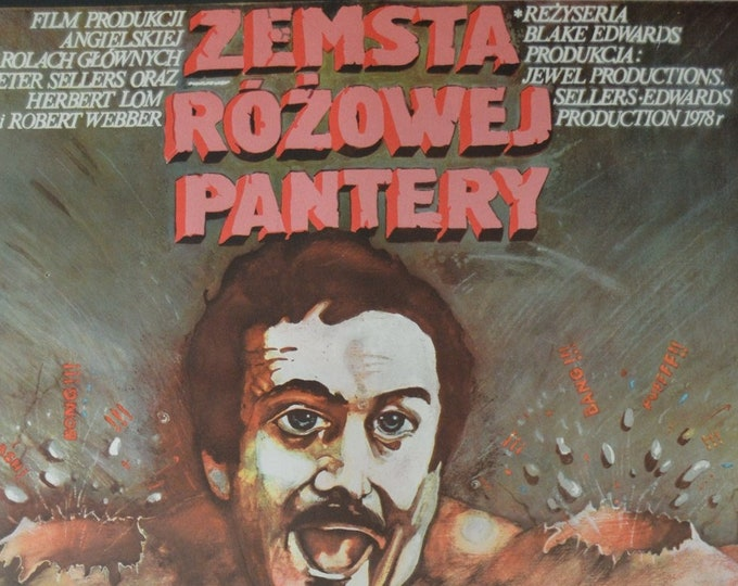 Revenge of the Pink Panther (1978) with Peter Sellers. Original Polish poster, designed by Marek Ploza-Dolinski
