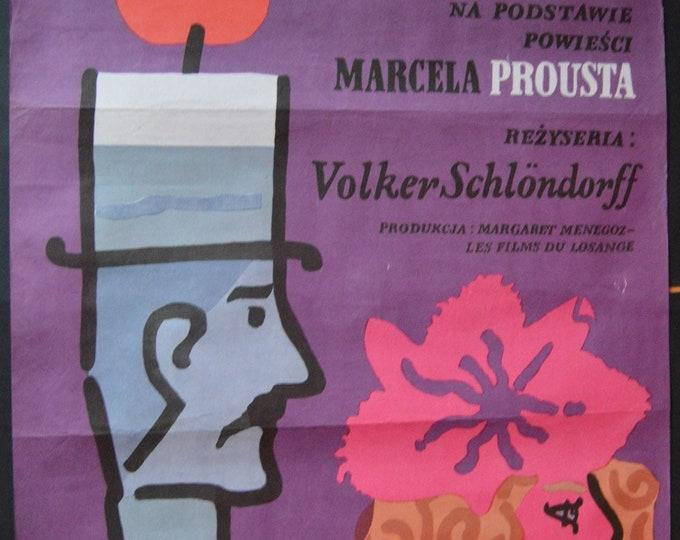 An Amour by Swann (1983) Original Polish Poster. Designed by Jan Mlodozeniec