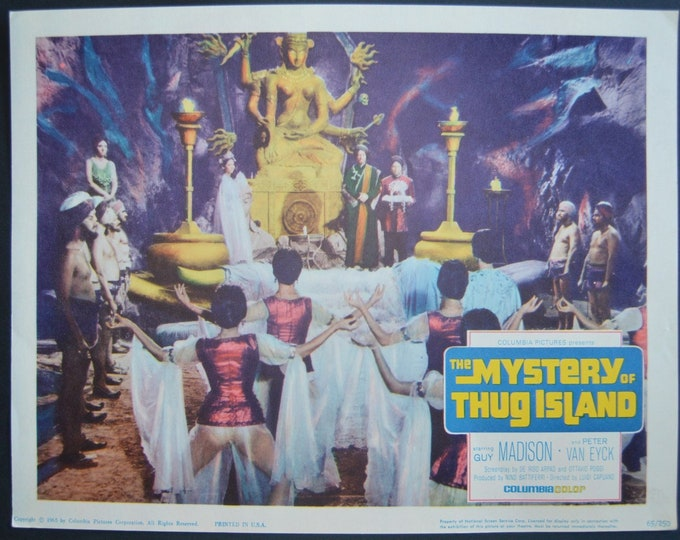 The Mistery of Thug Island ( 1964). Lobbycard original del estreno en USA.