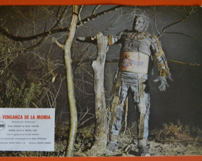 Revenge of the Mummy (1973) with Paul Naschy. Set of 3 original Spanish Lobby cards.