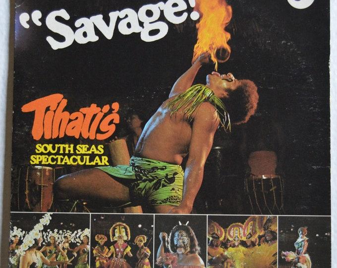 "Savage (Tihatis,south seas spectacular) original vinyl record, 12"" vinyl LP + brochure on newspaper"