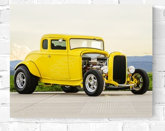 9f69d79d HD Metal Print of an Old Hotrod for Guy Who Has it all- Gift's for Dad-  Father's Day - Gear Head - Man Cave