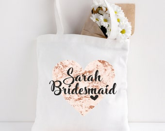 22ad9f4c14 Personalised Bride Tote Bag Bridal Party Gift Bag Personalised Bridesmaid  Gift Tote Bag Wedding Favour Free Postage
