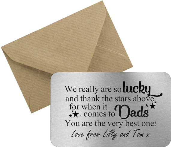 Personalised Dad Daddy Father Christmas Father/'s Day Birthday Gift Present Card