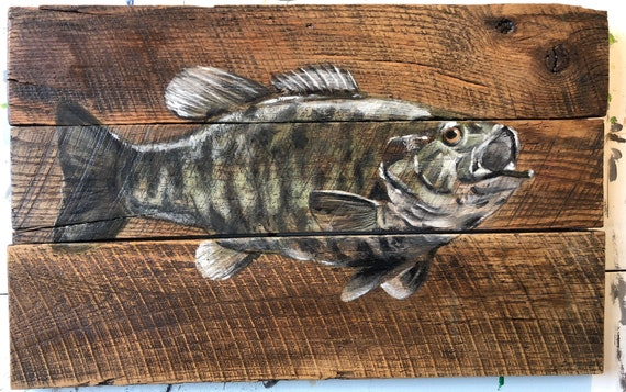 "SOLD-Bass Fish 18.5"" x 29"""