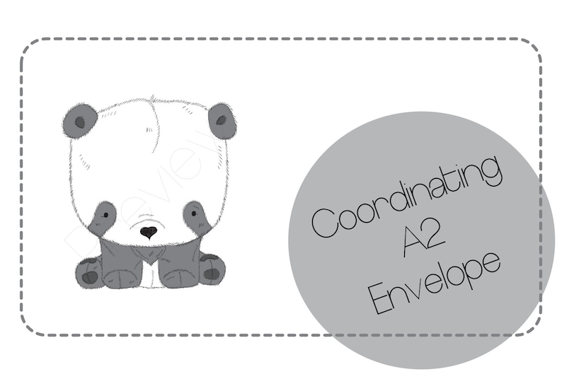 Panda Pencil Art for Pen Pals and Snail Mail Writing Paper  Custom Available Cute Stationery Letter Set