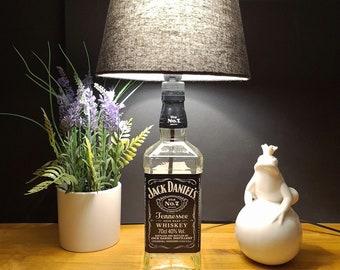 Jack Daniels Bottle Lamp, Bottle Lamp 0,7 l - Handmade UNIKAT Upcycling