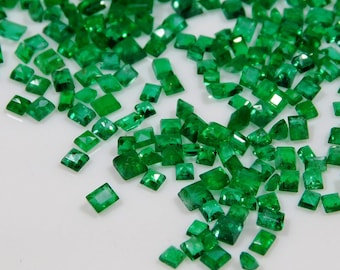 Dazzling Top Grade Quality Lab Created Emerald Square Shape Cut Stone Loose Gemstone  For Making Jewelry 67.5 Ct 26X26X14 mm R-2169