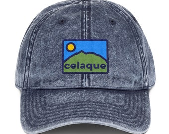 c146401b2a4eb Celaque Bold Vintage Cotton Twill Denim Dad Cap