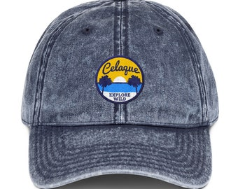 93f7f3a115e28 Tropical Beach Celaque Vintage Cotton Twill Dad Cap
