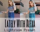 Lightroom Preset - Lately With Alexa