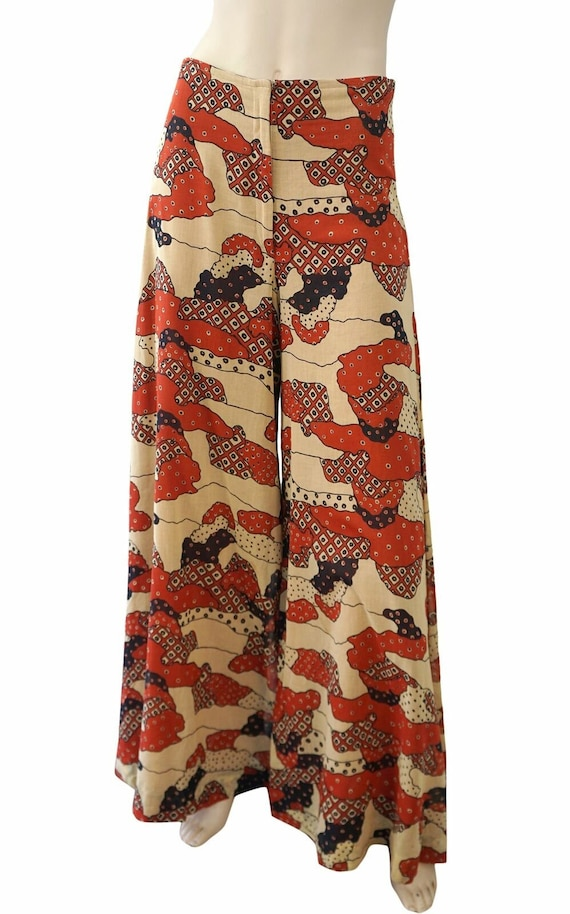 THEA PORTER COUTURE Printed High Waist Wide Leg Pa