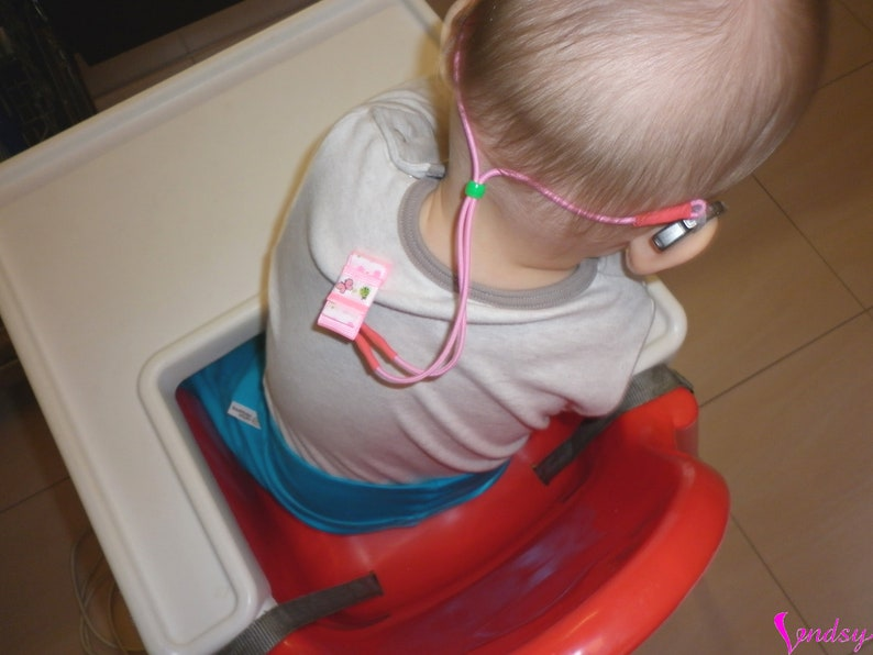 Children Safety Restraint Clips On Hearing Aids Red Bow