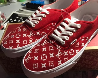 Hand Painted Rolling Stones Platform Vans Painted by www